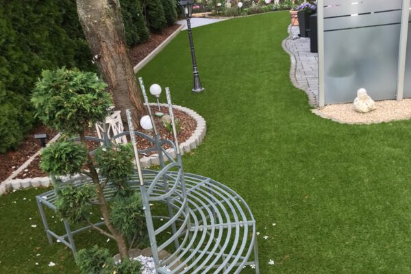 Kunstrasen Beispiel Gartengestaltung