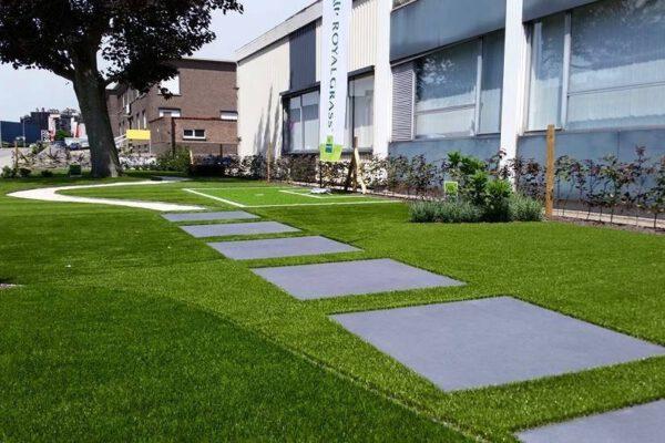 Kunstrasen Beispiel Garten Wege Ideen