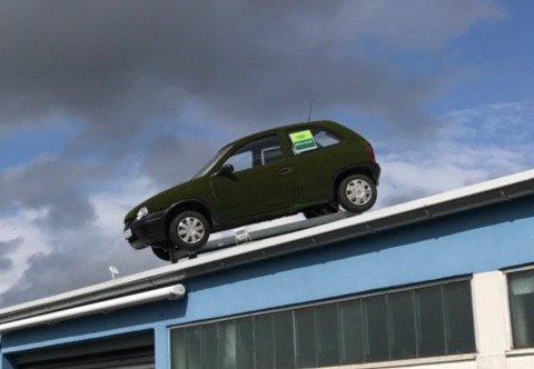 Kunstrasen Rimann Opel Corsa in Kunstgras