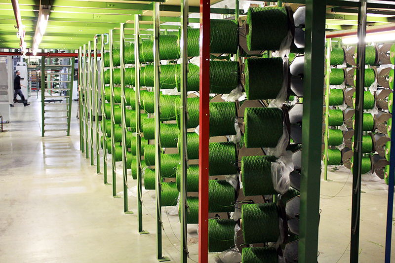 Kunstrasen-Produktion in den Niederlanden